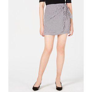 NWT Maison Jules Checkered Side Tie Mini Skirt M